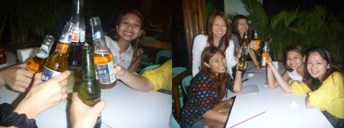 Some of us had alcohol, others just drank softdrinks. Nonetheless, we were all smiles for the camera. :)