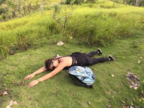 Dead tired. haha