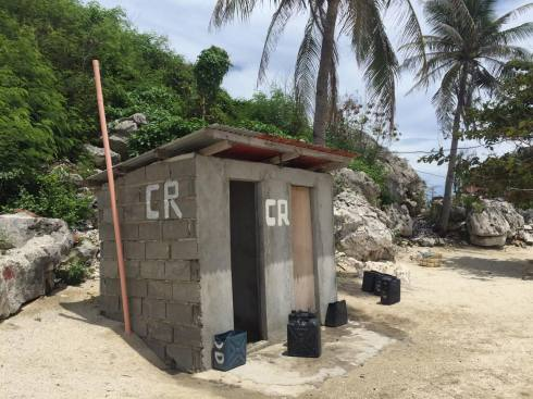 We all shared a public toilet with the other guests in the island. They have seawater to flush, but you can also buy fresh water from the little store. It cost Php 25.00 per bucket.