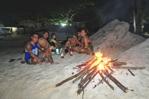We stayed by the beach with our little bonfire and random stories, until close to midnight.